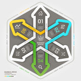 Modern arrow business circle origami style. Royalty Free Stock Photography