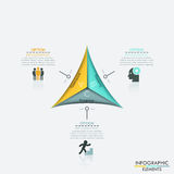 Modern arrow business template. Modern triangle business template. Vector illustration. Can be used for workflow layout, diagram, number options, web design Royalty Free Stock Photography