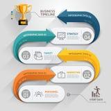 Modern arrow business timeline template. Stock Image