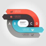 Modern arrow circle step up options banner. Royalty Free Stock Images