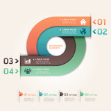 Modern arrow circle step up options banner. Vector illustration. can be used for workflow layout, diagram, number options, web design, infographics Royalty Free Stock Photo