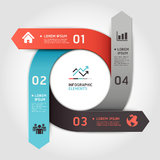 Modern arrow circle step up options banner. Royalty Free Stock Image