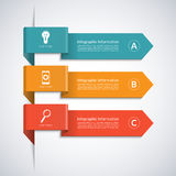 Modern arrow elements for business infographics Stock Photos