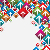 Modern arrow geometric design Royalty Free Stock Photography