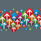 Modern arrow geometric design Stock Image