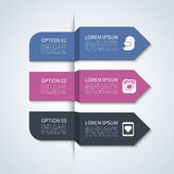 Modern arrow infographic elements Royalty Free Stock Photography