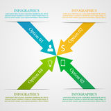 Modern Arrow Infographic Template Royalty Free Stock Image
