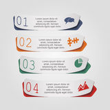 Modern arrow infographics element layout. Vector. Illustration Stock Photography