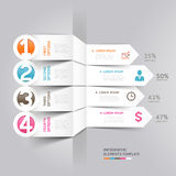 Modern arrow infographics element origami style. Stock Photography