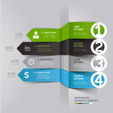 Modern arrow infographics element origami style. Stock Image