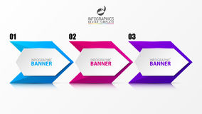 Modern arrow infographics elements. Businecc concept. Vector Stock Photography
