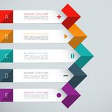 Modern arrow infographics elements. Modern minimal colorful arrow infographics elements. Origami style. Flat design. Vector illustration. Can be used for Royalty Free Stock Photos