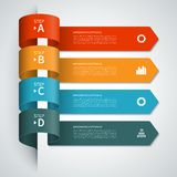 Modern arrow infographics elements Royalty Free Stock Photography