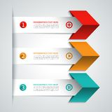 Modern arrow infographics elements Royalty Free Stock Photo