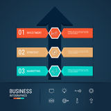 Modern arrow infographics elements. Successful business concept infographic template. Stock Photo
