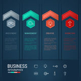 Modern arrow infographics elements. Successful business concept infographic template. Can be used for workflow layout, diagram web design, infographics. Vector Royalty Free Stock Photos