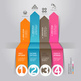 Modern arrow infographics energy origami style. Royalty Free Stock Photography