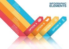 Modern arrow infographics. Origami style Stock Illustration