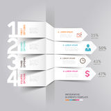 Modern arrow infographics origami style. Modern arrow infographics element origami style. Vector illustration. can be used for workflow layout, diagram, number Stock Photos