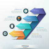 Modern arrow origami style number options banner. Vector illustration. can be used for workflow layout, diagram, step options, web design, infographics Vector Illustration