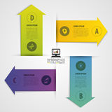 Modern arrow origami style number options banner. Vector illustration. Infographics Royalty Free Stock Photo