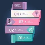 Modern arrow origami style step options banner. Stock Image