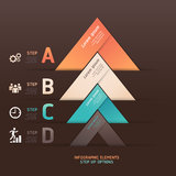Modern arrow origami style step up options banner. Royalty Free Stock Images