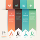 Modern arrow origami style step up template. Royalty Free Stock Image