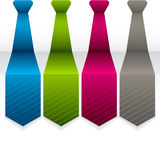 Modern arrow tie infographics elements. Vector illustration. can Royalty Free Stock Photos