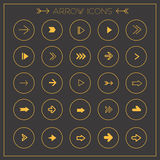 Modern arrows icons set Royalty Free Stock Photo
