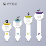 Modern Arrows. Infographic design template. Timeline. Vector illustration.  Royalty Free Illustration