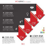 Modern arrows for Infographics template with letters and numbers Royalty Free Stock Images