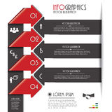 Modern arrows for Infographics template with letters and numbers Royalty Free Stock Image