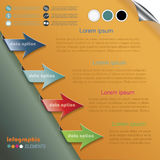 Modern arrows for Infographics template Stock Photography