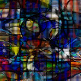 Modern art abstract. Complex Geometric Modern art Abstract Stock Photo