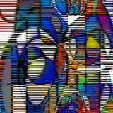 Modern art abstract. Composed of shapes and lines Stock Images