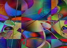 Modern art abstract. 3D rendering stock illustration