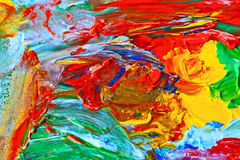 Modern art, abstract painting. With oil paints Royalty Free Stock Photo