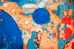 Modern art, abstract painting with oil paints Stock Image