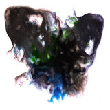 Modern art avant-guard black, blue artist seamless Royalty Free Stock Photos