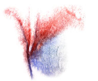 Modern art avant-guard red, blue texture Stock Photography