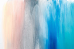 Modern art background, abstract color gradation. Modern art background painting, abstractionism. Blurred soft colorful gradient, pastel colors backdrop with free Stock Image