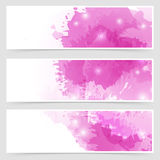 Modern Art Bright Web Header Collection Royalty Free Stock Photo