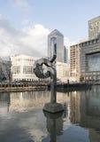 Modern Art at Canary Wharf - London England  UK Royalty Free Stock Photography