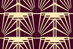 Modern Art Deco background royalty free illustration