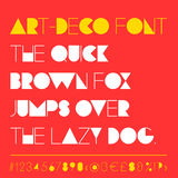 Modern art-deco related font between retro and futuristic style. Stock Photos