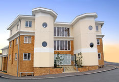 Modern art deco style apartments Stock Images