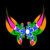 Modern art decoration. Artist made ideas. Funky magic fantasy. Fancy ornate wings. Freaky swirl pattern. Full frame wallpaper. Royalty Free Stock Image