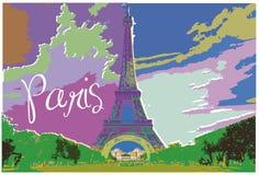 Modern art Eiffel tower Stock Photos