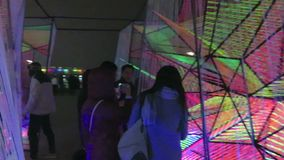 Modern art exhibit cubes at the waterfront in Georgetown. Video of people and modern exhibit at the waterfront in georgetown of washington dc on 12/1/18. This is stock footage